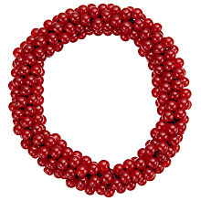 Buy John Lewis Stretch Bead Bracelet, Cherry Online at johnlewis.com