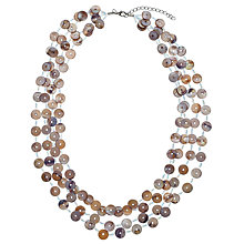 Buy John Lewis Layered Button Necklace, Mother of Pearl Grey Online at johnlewis.com