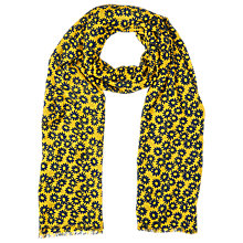 Buy Whistles Daisy Print Scarf, Yellow/Multi Online at johnlewis.com
