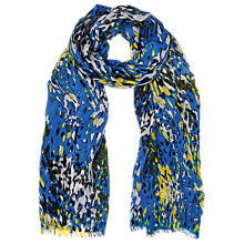Buy Whistles Dash Print Scarf, Blue/Multi Online at johnlewis.com