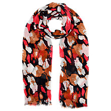 Buy Whistles Animal Stroke Scarf, Pink/Multi Online at johnlewis.com