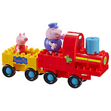 Buy Peppa Pig Grandpa Pig's Train Construction Set Online at johnlewis.com