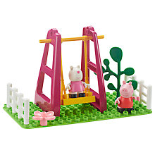 Buy Peppa Pig Playground Swing Construction Set Online at johnlewis.com