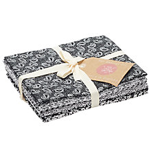 Buy Craft Cotton Co. Classic Graphic Print Fat Quarter Craft Fabric, Black/White Online at johnlewis.com