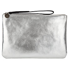 Buy Jigsaw Large Pochette Clutch Bag, Silver Online at johnlewis.com