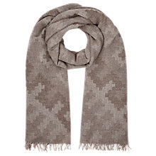Buy Jigsaw Oversized Aztec Scarf Online at johnlewis.com