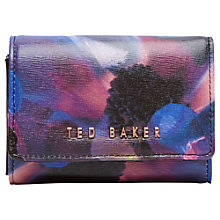 Buy Ted Baker Elibee Cosmic Bloom Leather Mini Coin Purse, Black Online at johnlewis.com