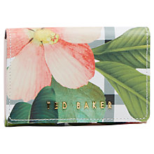 Buy Ted Baker Emelina Check Secret Trellis Leather Coin Purse, Cream Online at johnlewis.com