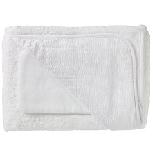 Buy John Lewis Seersucker Hooded Towels and Wash Mitt, Pack of 2, White Online at johnlewis.com