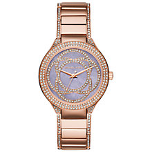 Buy Michael Kors MK3482 Women's Kerry Embellished Bracelet Strap Watch, Rose Gold/Purple Online at johnlewis.com