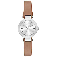 Buy DKNY Women's Stainless Steel Stanhope Leather Strap Watch Online at johnlewis.com
