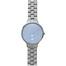 Buy Skagen SKW2416 Women's Anita Link Bracelet Strap Watch, Silver/Blue Online at johnlewis.com