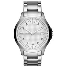 Buy Armani Exchange AX2177 Men's Hampton Date Bracelet Strap Watch, Silver Online at johnlewis.com