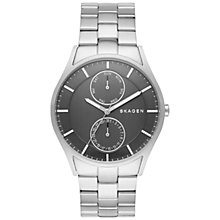 Buy Skagen SKW6266 Men's Holst Single Chronograph Link Bracelet Strap Watch, Silver/Gunmetal Online at johnlewis.com