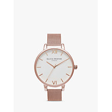 Buy Olivia Burton Women's Big Dial Mesh Bracelet Strap Watch Online at johnlewis.com