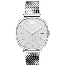 Buy Skagen SKW2402 Women's Rungsted Mesh Bracelet Strap Watch, Silver/White Online at johnlewis.com