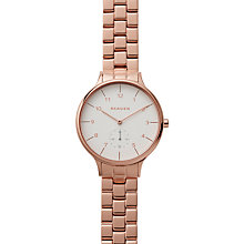 Buy Skagen SKW2417 Women's Anita Link Bracelet Strap Watch, Rose Gold/White Online at johnlewis.com