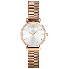 Buy Emporio Armani Women's Mesh Bracelet Strap Watch Online at johnlewis.com