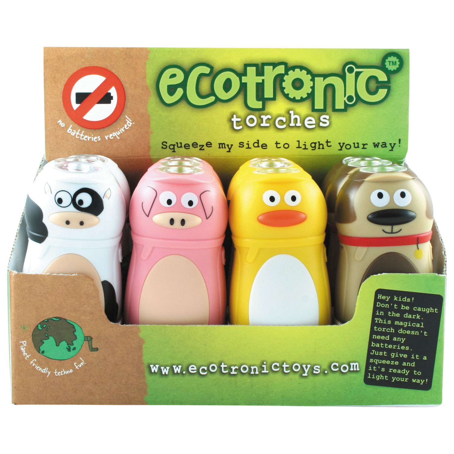 House of Marbles House of Marbles Ecotronic Farm Animal Torch, Assorted