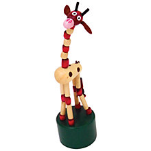 Buy House of Marbles Jiggling Giraffe Push Up Toy Online at johnlewis.com