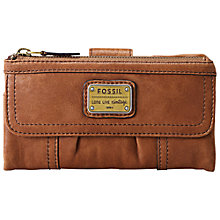 Buy Fossil Emory Leather Purse, Saddle Online at johnlewis.com