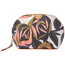 Buy Fossil Coated Canvas Domed Cosmetics Bag, Rose Print Online at johnlewis.com