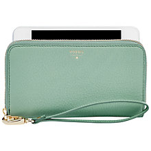 Buy Fossil Sydney Leather Phone Case Purse Online at johnlewis.com