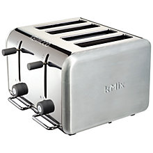 Buy Kenwood kMix TTM040S 4-Slice Toaster, Stainless Steel Online at johnlewis.com