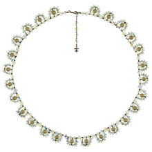 Buy Eclectica Vintage 1960s Vendome Chrome Plated Faux Pearl Swarovski Cystal Necklace, Pearl Online at johnlewis.com