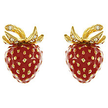 Buy Eclectica Vintage 1980s Ciner Gold Plated Enamel and Swarovski Crystal Strawberry Clip-On Earrings, Red Online at johnlewis.com