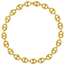 Buy Eclectica Vintage 1980s Gold Plated Chunky Necklace, Gold Online at johnlewis.com