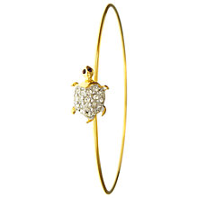Buy Eclectica Vintage 1980s Eclectica Essentials Gold Plated Crystal Turtle Bangle, Gold Online at johnlewis.com