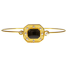 Buy Eclectica Vintage 1980s Eclectica Essentials Gold Plated Onyx Bangle, Black/Gold Online at johnlewis.com