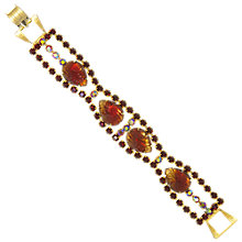 Buy Eclectica Vintage 1950s Gold Plated Pear Shaped Glass Stones Bracelet, Copper Online at johnlewis.com