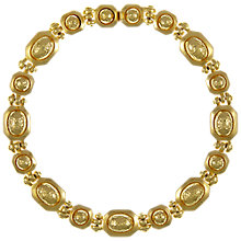 Buy Eclectica Vintage 1970s Grosse Gold Plated Structured Necklace, Gold Online at johnlewis.com