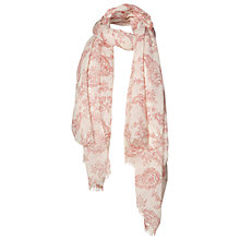 Buy Fat Face Linear Paisley Print Scarf, Cream/Coral Online at johnlewis.com