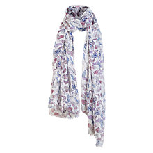 Buy Fat Face Pastel Butterfly Print Scarf, White/Multi Online at johnlewis.com