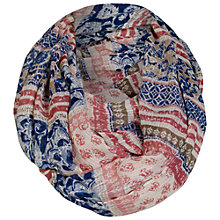 Buy Fat Face Tile Patchwork Stripe Print Snood, Multi Online at johnlewis.com