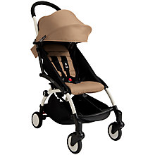 Buy Babyzen Yoyo+ Pushchair, White/Taupe/Black Online at johnlewis.com