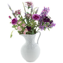 Buy Peony Purple Flowers in Lace Jug Online at johnlewis.com