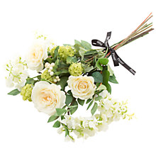 Buy Peony Rose and Wisteria Bouquet, Cream Online at johnlewis.com