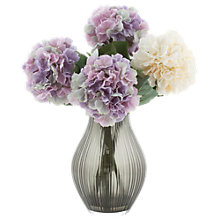Buy Peony Hydrangea Mix in Black Vase Online at johnlewis.com