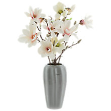 Buy Peony Cream Magnolia in Grey Vase Online at johnlewis.com