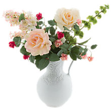 Buy Peony Hydrangea and Roses in Lace Jug Online at johnlewis.com