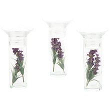 Buy Peony Lavender Tealight Holder Stems, Set of 3 Online at johnlewis.com