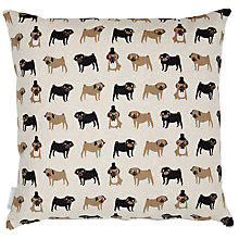 Buy Fenella Smith Pug Linen Cushion Online at johnlewis.com