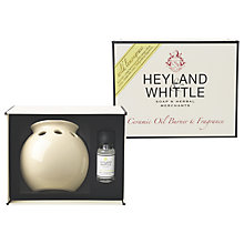 Buy Heyland & Whittle Ceramic Oil Burner and Wild Lemongrass Oil Online at johnlewis.com