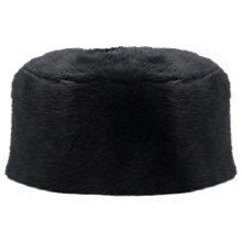Buy French Connection Faux Fur Hat, Black Online at johnlewis.com