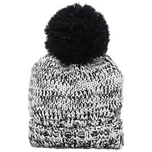 Buy French Connection Rachel Beanie Hat, Black/White Online at johnlewis.com