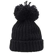 Buy French Connection Molly Slouch Beanie Hat, Black Online at johnlewis.com